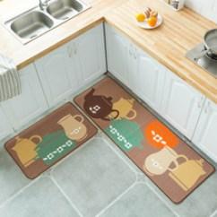 Area Rugs For Kitchen Shelves Wall Mounted 厨房地毯地垫 厨房地毯地垫批发 促销价格 产地货源 阿里巴巴 跨境厨房地垫门垫长条防滑地毯吸水厨房垫家用脚