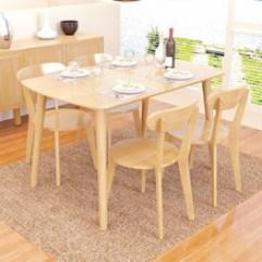 Kitchen Desk Floating Island 厨房桌子 厨房桌子批发 促销价格 产地货源 阿里巴巴 北欧风纯实木餐桌现代简约长方形橡胶木吃饭桌子厨房餐厅家具单
