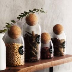 Kitchen Jars Short Curtains For 厨房罐子 厨房罐子批发 促销价格 产地货源 阿里巴巴 厨房食品储物罐透明玻璃密封罐杂粮茶叶罐子创意家用大小收纳