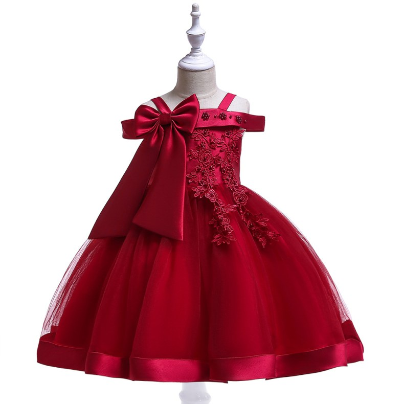 10223855456 1028449503 2019 Kids Tutu Birthday Princess Party Dress for Girls Infant Lace Children Bridesmaid Elegant Dress for Girl baby Girls Clothes