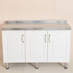 Kitchen Pantry Cabinets Freestanding Lowes Cabinet Sale 厨房柜台图片 海量高清厨房柜台图片大全 阿里巴巴 简约厨房橱柜厨房碗柜100 80 45三门式不锈钢橱柜