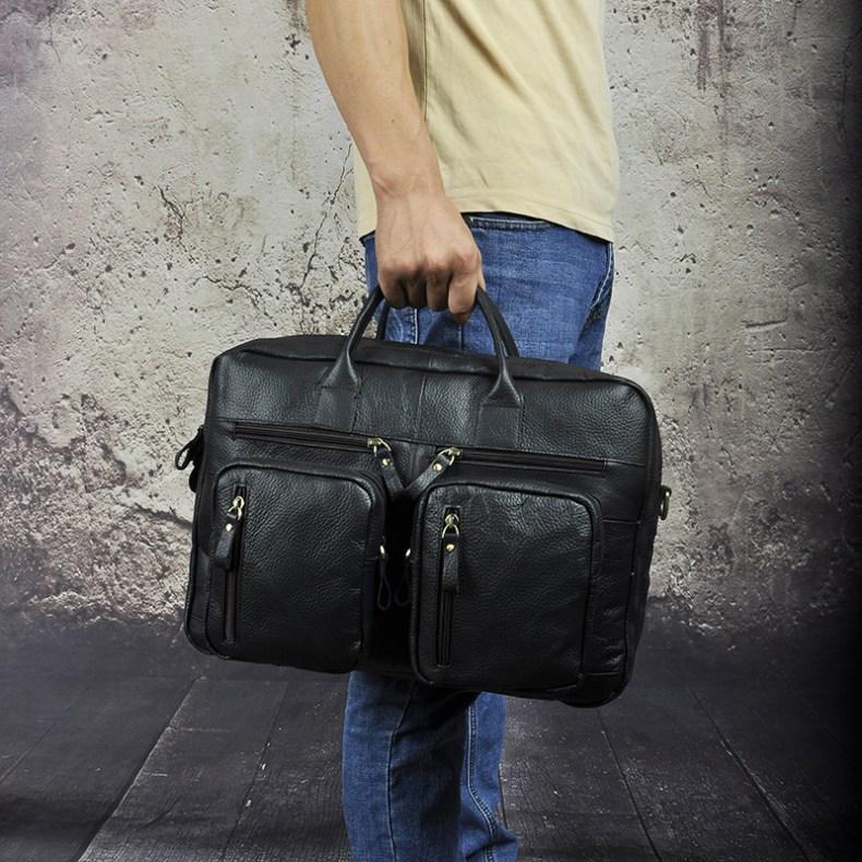 9179415186 2068518898 Men Oil Waxy Leather Antique Design Business Travel Briefcase Laptop Bag Fashion Attache Messenger Bag Tote Portfolio Male k1013