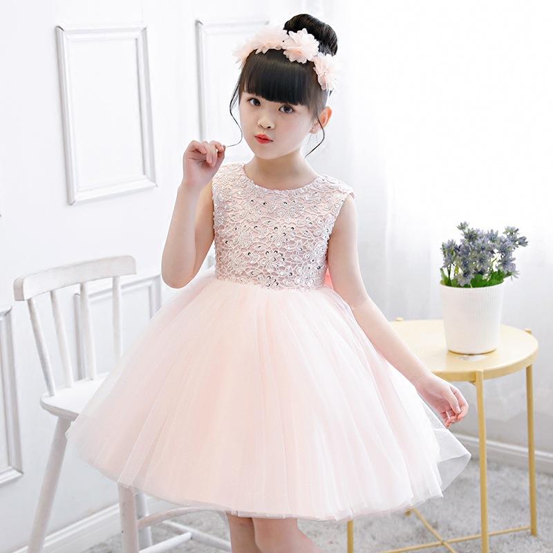 兒童禮服_兒童禮服女童裝公主裙小主持人大童鋼琴演出服小花童晚禮服 - 阿里巴巴