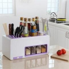 Kitchen Tool Holder Garbage 厨房用具架 厨房用具架批发 促销价格 产地货源 阿里巴巴 厂家直销厨房收纳架置物架套具厨房用品组合用具调味料盒