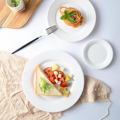 white kitchen buffet retro style appliances 自助餐餐具 厨房餐具纯白色陶瓷圆形西餐盘子平盘骨碟自助餐餐具摆台 厨房餐具纯白色陶瓷圆形西餐盘子拼菜盘平盘骨碟