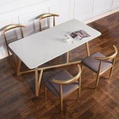 Chairs For Kitchen Concrete Table 厨房桌子椅子 厨房桌子椅子价格 厨房桌子椅子批发 采购 阿里巴巴 北欧工业风大理石餐桌餐厅实用创意吃饭桌子家用厨房餐桌椅子