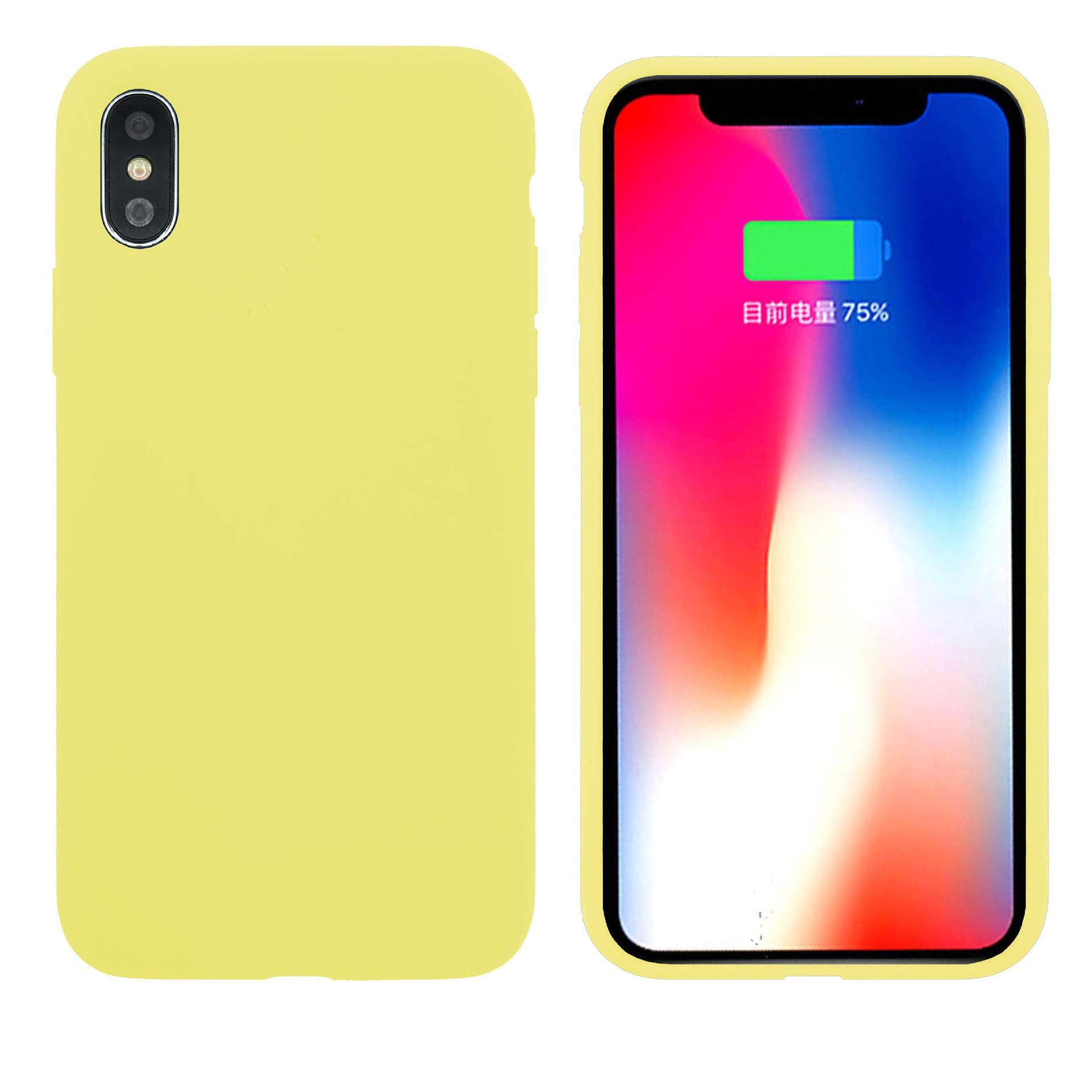 適用蘋果iPhonexs手機殼XsMax液態硅膠殼7PLUS新款XR全包logo防摔-阿里巴巴