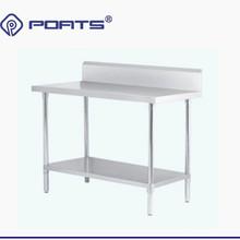 kitchen desk brushes 厨房桌子 厨房桌子批发 促销价格 产地货源 阿里巴巴 不锈钢工作台靠背 加板 工作桌双层厨房桌子切菜