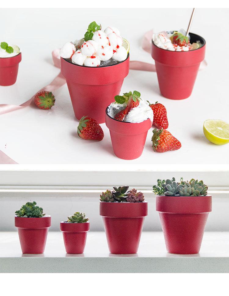 塑料盆栽蛋糕杯冰淇淋