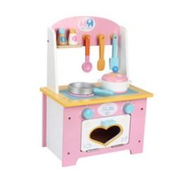 Wood Kitchen Set Narrow Table 木制厨房套装灶台玩具 木制厨房套装灶台玩具批发 促销价格 产地货源 厂家直销木制粉色小厨房套装儿童厨房灶台过家家游戏