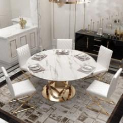 Kitchen Table Base Top Sink 不銹鋼餐桌底座 不銹鋼餐桌底座價格 不銹鋼餐桌底座批發 采購 阿里巴巴 創意后現代大理石圓形餐桌鍍金不銹鋼底座一桌六椅組合設計