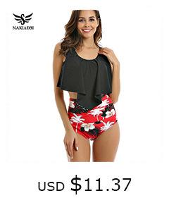 10827784133 1332435120 NAKIAEOI Sexy Bikinis Women Swimsuit 2019 Summer Low Waisted Bathing Suits Halter Top Push Up Bikini Set Plus Size Swimwear XXL