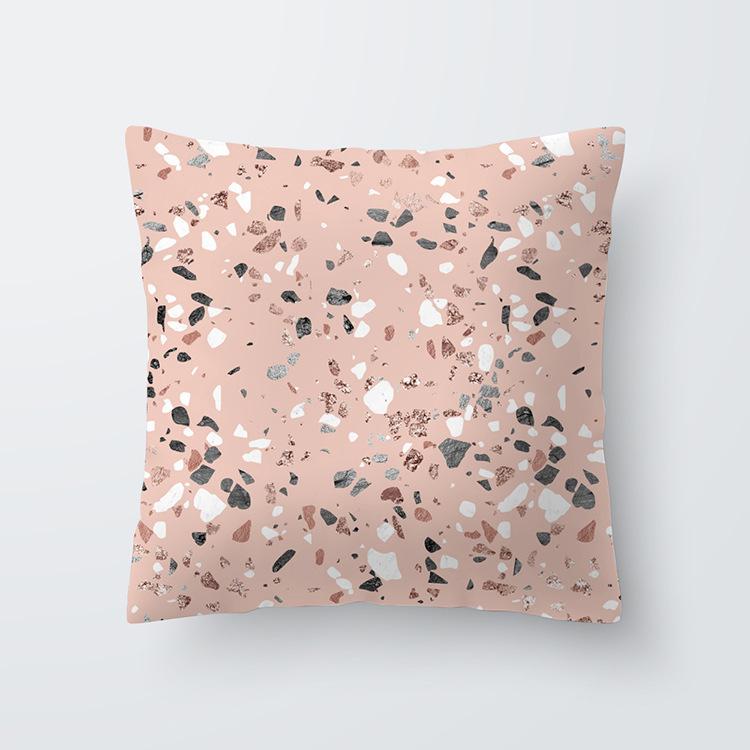 玫瑰金粉桃皮絨抱枕套沙發靠墊套 wish熱賣枕套靠墊 廠家批發-阿里巴巴
