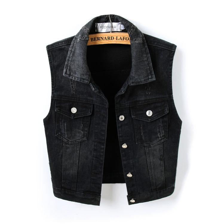 15290681894 1677996602 Fashion Denim Vest Female Spring Autumn Sleeveless Wild Tops Short Jacket Women Plus Size 5XL Smoky Gray Jean Waistcoat