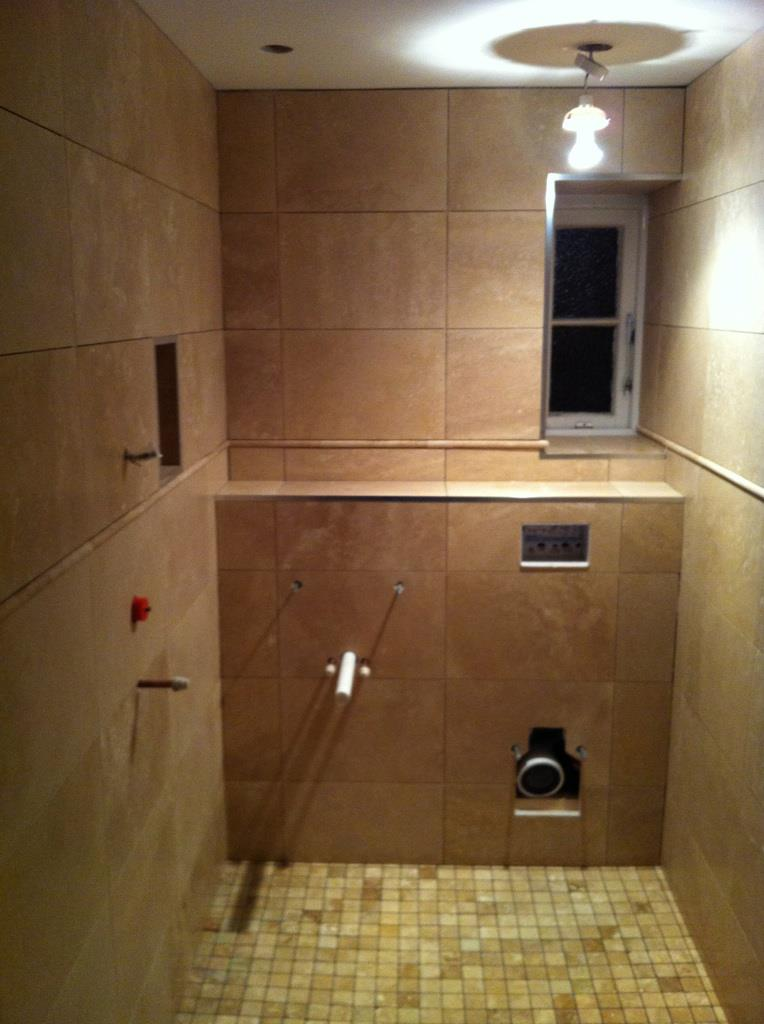 Travertine Cloakroom Wetroom  Cambridge  CBWR