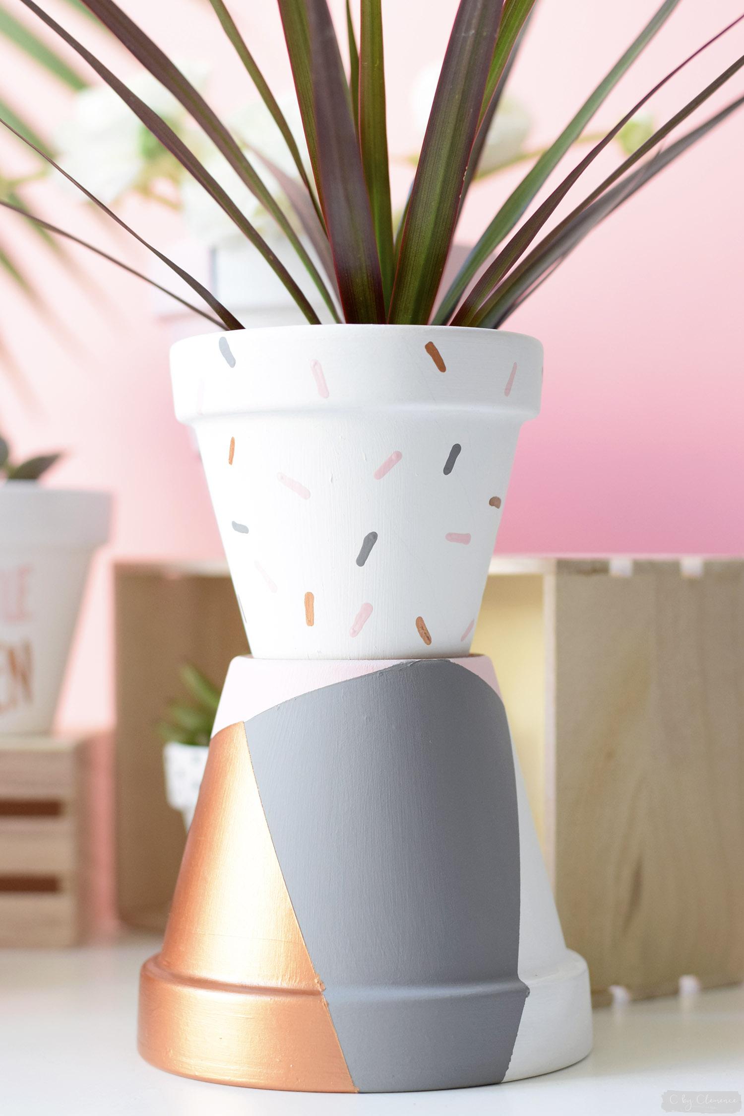Dco DIY Petits Pots De Fleurs Graphiques C By Clemence