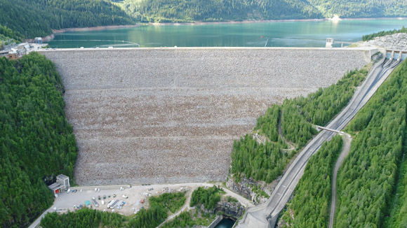 B.C. Hydro dams that was examined with a drone-based collection and damage-assessment software system developed by Niricson