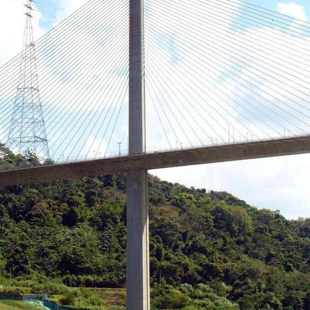 Puente Centenario, second major road crossing the Panama Canal, 6 lanes highway built by the Bilfinger Berger Group, opened in 2004.