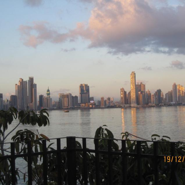 View on Panama City from Casco Viejo (Old City)