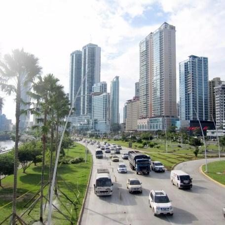 Via Balboa - main traffic line of Panama City