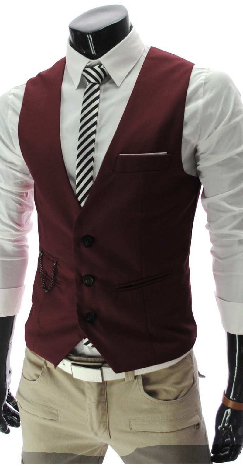 Chaleco de traje Casual para hombre Chaleco Ajustado británico.
