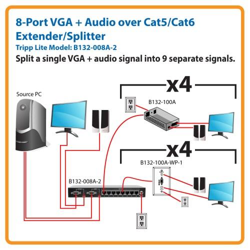 small resolution of split a single vga audio signal into 9 signals