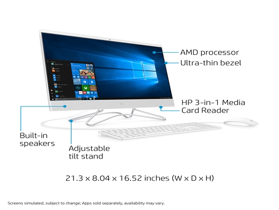 slide 1 of 16,show larger image, hp all-in-one 24-f0030