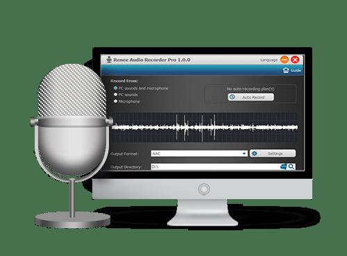 تسجيل الصوت بسهولة Renee Audio Recorder Pro