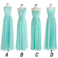 Long Bridesmaid Dress, Tiffany Blue Bridesmaid Dress ...