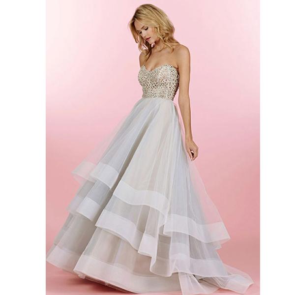 Long Prom Dress, White Prom Dress, Fluffy Prom Dress, A