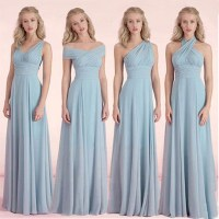 Long Bridesmaid Dresses ,dusty Blue Bridesmaid Dresses ...