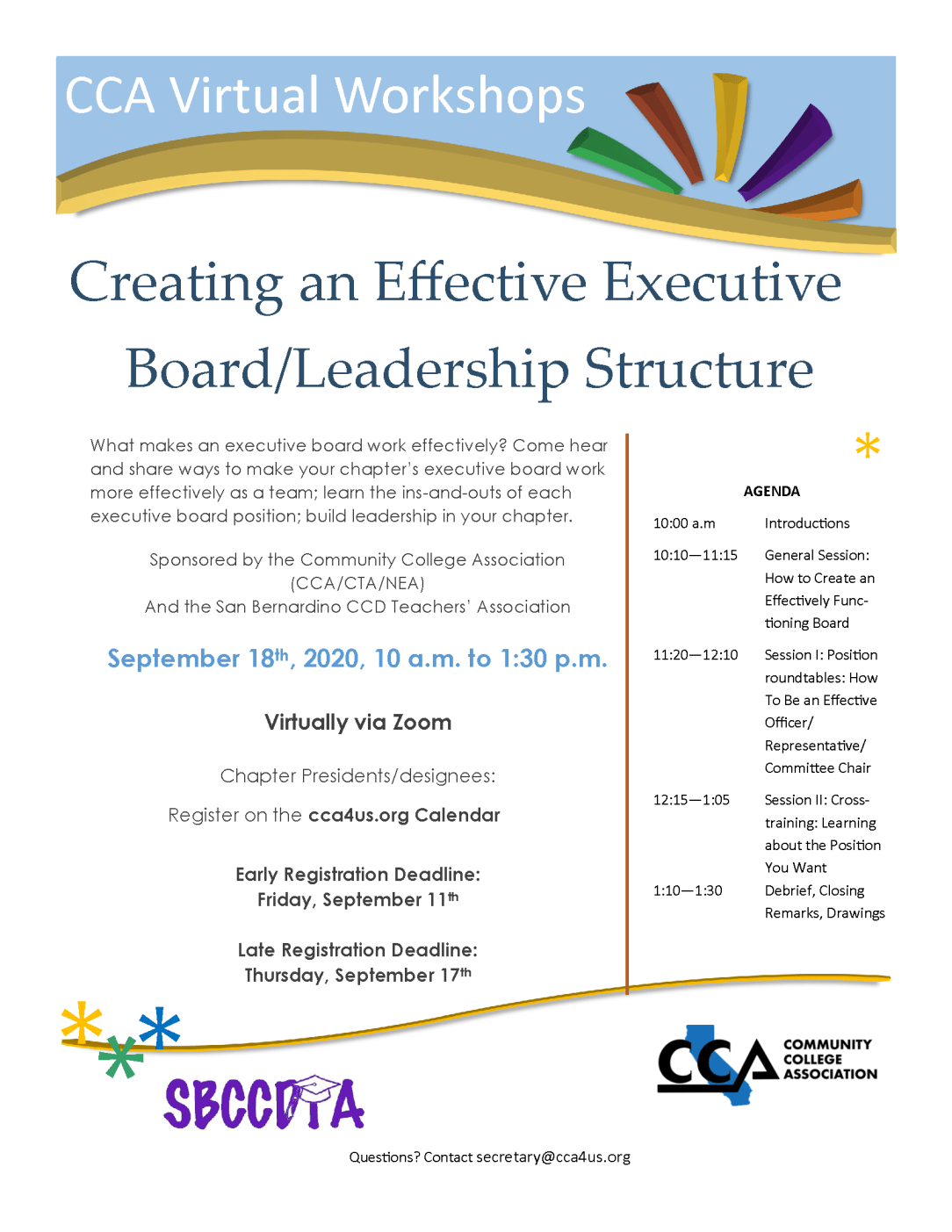 2020 Creating Effective Executive Board workshop flyer final 9-3-20