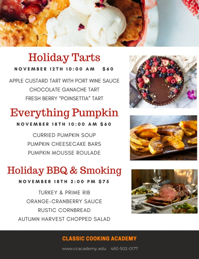 Holiday cooking classes scottsdale