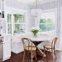 Kitchen Banquette Salamander Equipment How To Design A Beautiful Cc And Mike White Round Table Wood Legs Farmhouse Chairs Beaded