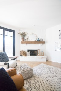 White Painted Brick Fireplace Makeover | CC and Mike ...