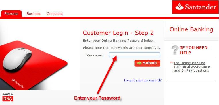 Santander Line Personal Banking