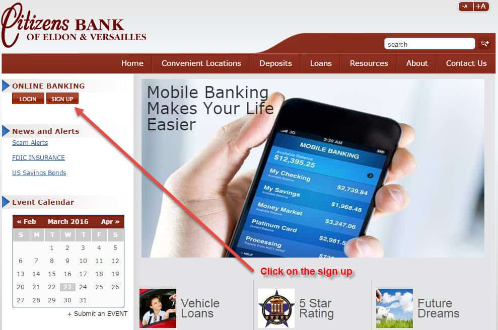 Citizens Bank Of Eldon Online Banking Login Cc Bank