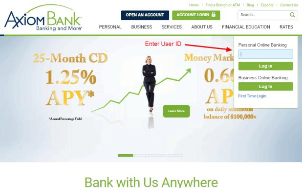 Axiom Bank login 2