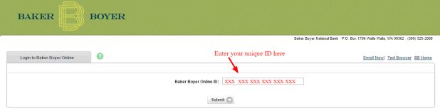 Baker Boyer Online ID