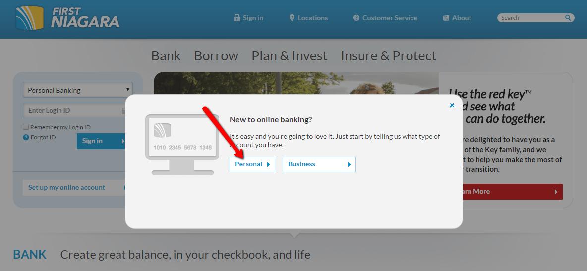 First Niagara Bank Online Personal Banking