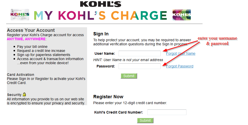 Plus, get free store pickup in one hour or less! Kohl S Credit Card Online Login Cc Bank