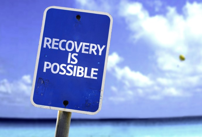 recovery is possible on sign post