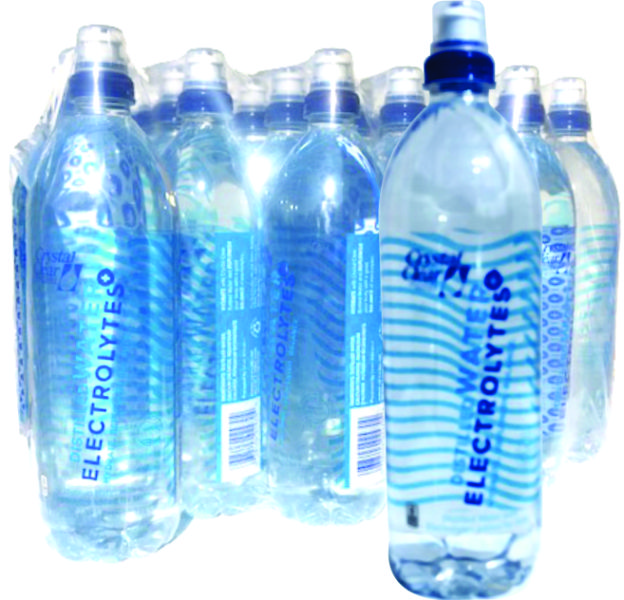 Electrolyte Water 23.7-oz 24-pk   Crystal Clear Bottled Water