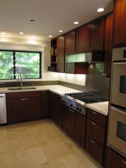 Burgundy Cherry  CC Cabinets and Granite