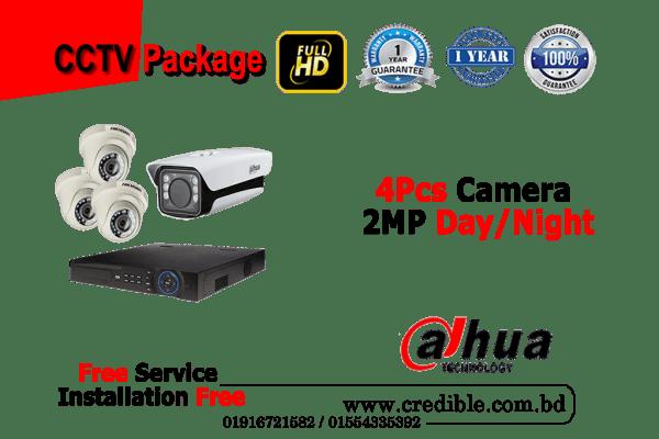 Dahua CC Camera Package 4Pcs