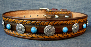 Leather Dog Collars by CCC - Dakota Dawg Designer Collection SW