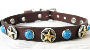 CCC Western Leather Dog Collars - Deputy Dawg