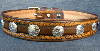 """Leather Dog Collars at CCC - Dakota Dawg Designer Collection """"Rodeo Rover"""""""