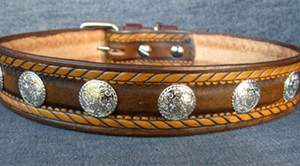 CCC Western Leather Dog Collars - Dakota Rodeo Rover