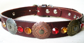 Leather Dog Collars by CCC - Hidalgo designer Collection SW 1.0